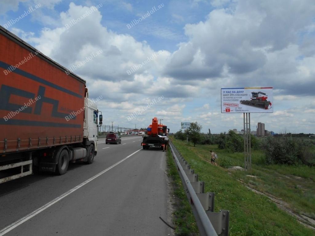 Западный подъезд к Ростову 7 км+300 м справа